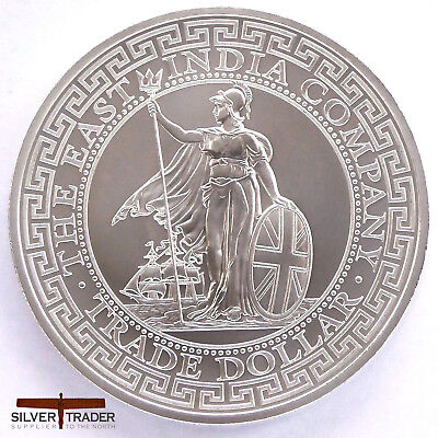 2018 1oz Trade Dollar ST Helena restrike Silver Bullion Coin unc: