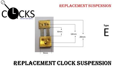 Brass Clock Pendulum Suspension Spring. (Type E) UK Seller