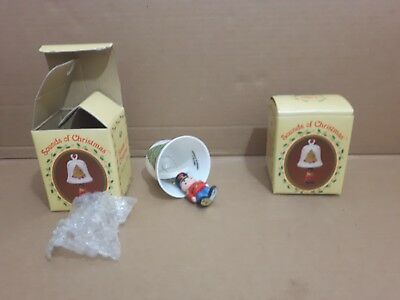 Vintage Russ Sounds Of Christmas Porcelain Bell Lot X2 New Nib Ornament Tree