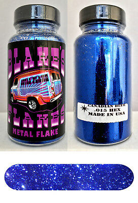 Blakes Metal Flake .015 Canadian Blue Dark Hot Rod custom automotive 2oz jar