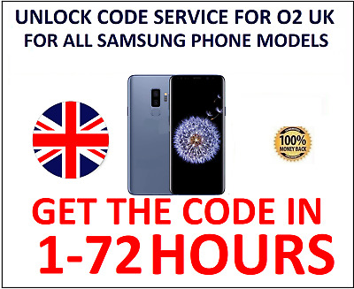 Unlocking Code for Samsung A3 J3 J5 S8 Note 8 O2 UK Network Only