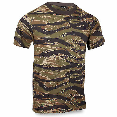 Vietnam Tiger Stripes Camo US Army Airsoft Camouflage Military T-Shirt Cotton