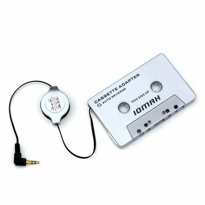 Car Audio Cassette Adapter MP3 Player 3.5mm Earphone Jack Play Music Clear Sound