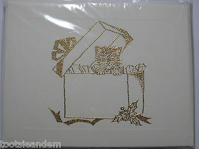 Christmas Box Kitty Notecards by Evelyn Morton