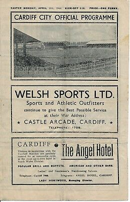 Cardiff City v Lovell's Athletic (War Cup 10.04) 1943/4