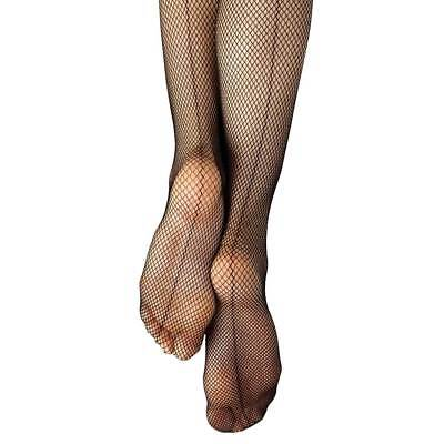 Capezio Basic Seamed Footed Fishnet Tights for Women Style 3408 S/M, L/XL, black