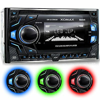 Car Audio Stereo MP3 Music Player CD USB Ports Aux In Dash Bluetooth Hand Free
