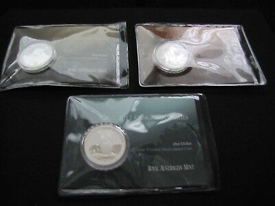 2010, 2011 & 2012 $1 Kangaroo Series 1 oz. Silver Frosted Coin (20,000 Minted)