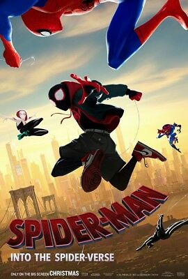 "Spider Man Into the Spider Verse Movie Poster Comics 24x36"" 27x40"" Film Print"