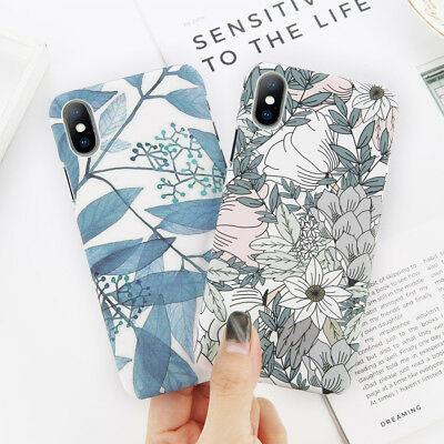 Ultra-thin Pattern Hard Case Shockproof Cover for Apple iPhone X 8 6s 7 Plus