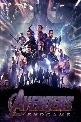 "Avengers End Game Poster 2019 Marvel Comics Movie Art Print 27x40"" 24x36"" 11x17"""