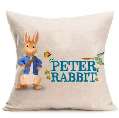 Peter Rabbit Cushion, Cover, Pillow Case, Cotton, Cushion Cover, Decorative
