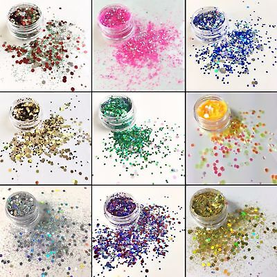 Chunky Mix Glitter Pot-Nail Face Eye Body Tattoo Festival Dance Club Cosmetics