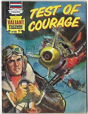 "Dated 1965. Old ""VALIANT"" Picture Library War Comic # 36. ""Test of Courage"""