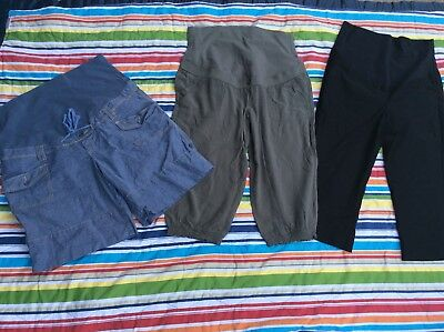Thyme Maternity Lot 2 Crops 1 Shorts Large