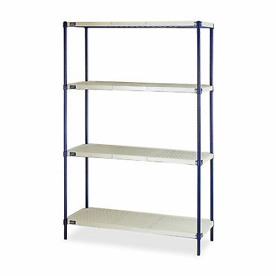 "4-Shelf Wire Plastic mat Shelving, 48""W x 18""D x 72""H  1 ea"