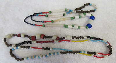 Two Very Nice Strands Of Old Trade Beads--Nr!