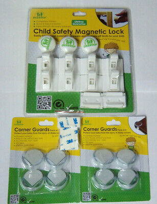 Deestep Child Safety Magnetic Locks & Corner Guards Safety Set