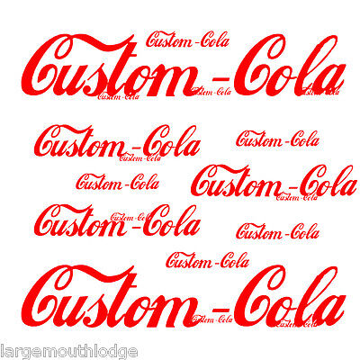 Custom Soda Bottle Decal For Less Cola 4""