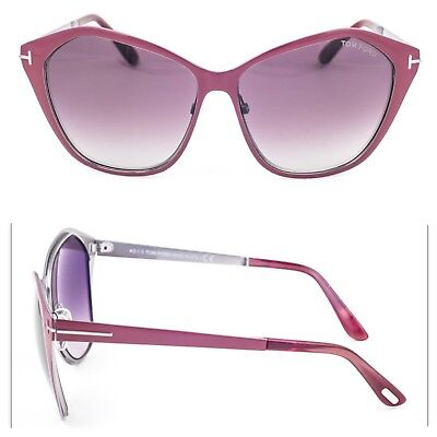 cecdbe1b3a Tom Ford Butterfly Sunglasses TF391 Lena 69Z Burgundy Ruthenium FT0391