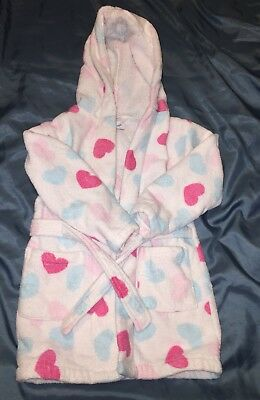Early Days Love Hearts Soft Towelling Dressing Gown, 18-24 Months - Fab!