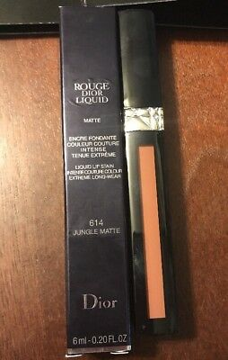 Dior Rouge Dior Liquid Matte 614 Jungle Matte .20oz New Boxed & Sample Cards