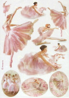 Rice Paper for Decoupage, Scrapbook Sheet, Stamperia Dancers in frame