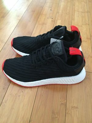 Details about Adidas NMD_R2 PK Nomad Primeknit Black Red White two toned BA7252 size 8 13