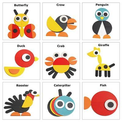 Animal Jigsaw Puzzle Educational Toy Wooden Colorful For Preschool Toddler Kids