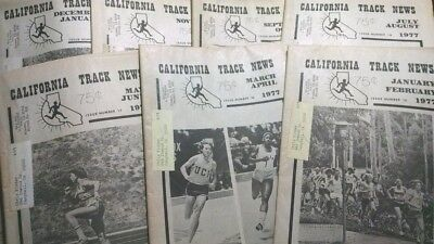Vintage Lot of enitre 1976 California Track News Jan-Dec Issues of Newspaper WOW