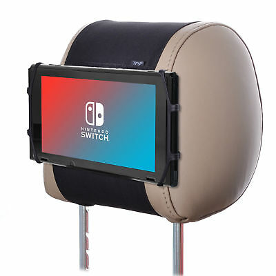 TFY Car Headrest Mount with Silicon Holding Net for Game Machine Nintendo Switch