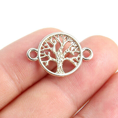 10PC Gold Tone Tree Of Life Connector Beads Charm Pendant DIY Jewelry Findings