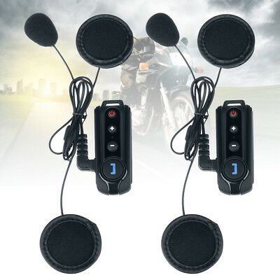 1000m BT-S1 Intercom Motorbike Bluetooth FM Motorcycle Interphone Helmet Headset
