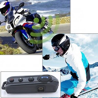 1000M BT-S1 Bluetooth Motorcycle Motorbike Helmet Intercom Headset Interphone FM