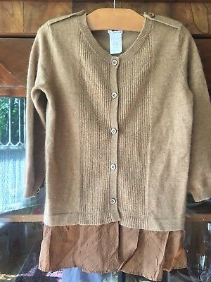 Jcrew Crewcuts  Girls Cashmere & Wool  Blend Tobacco Color Cardigan Size 10