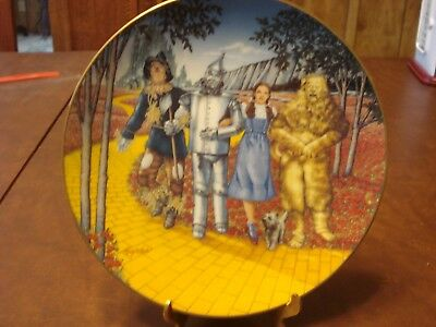 Wizard Of Oz Plate 1992 Knowles Collection ' We're Off To See The Wizard '