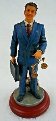 Lawyer Attorney Solicitor Figurine Statue Brand New NIB FREE SHIPPING