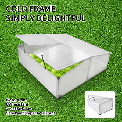 290501-cc-Garden Mini Greenhouse Cold Frame 4 Lid Polycarbonate Cover