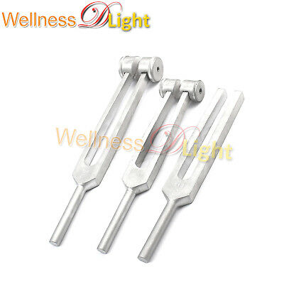 Wdl New Set Of 3 Pcs Aluminum Sensory Tuning Forks C 128 256 512 Stainless Steel