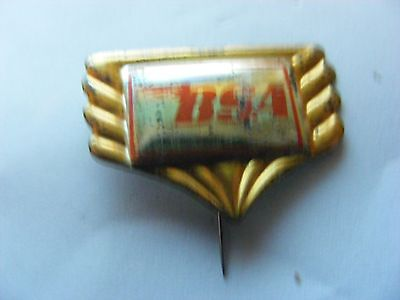 BSA  motorcycle very old  tinplate/tinlitho pin badge,prob. 1950s..(D)