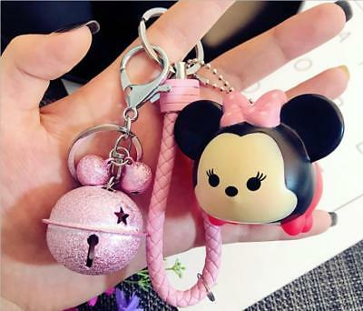 Cute Pink Bell/Doll Metal Waist Hanging Key Chain Ring Holder Spring Buckle New