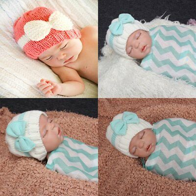 Bowknot Winter Warm Soft Knit Hat Beanie Cap for Infant Baby Toddler Boy Girl CU