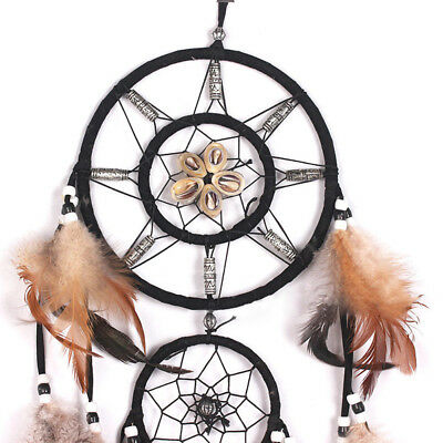 1 x Dream Catcher With feathers Wall Hanging Decoration Decor Bead Ornament #E