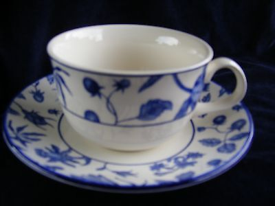3 Royal Stafford Blue & White Spring Garden/Hedgerow Cups & Saucers - See Photos