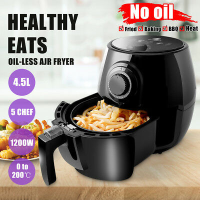 AU 4.5L Air Fryer 5 Star Chef Low Fat Oil Free Healthy Party Cooking Kids Chip