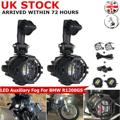 2pcs Spot LED Auxiliary Fog Safety Driving Light Motorcycle for BMW R1200GS SK