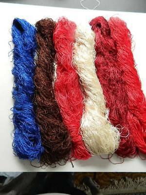 Large antique / vintage collection of 6 skeins embroidery silk floss