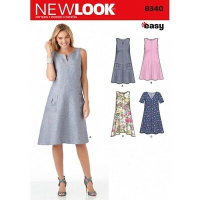 NEW LOOK MISSES\' Easy Dresses Dress Sewing Pattern 6340 - £3.48 ...