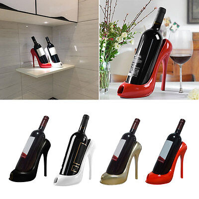 High Heel Shoe Wine Bottle Holder Wine Rack Gift Basket Accessories-Gifts