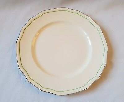 Vintage C1950'S Alfred Meakin Small Dinner Plate - England - Silver Gilt Rim